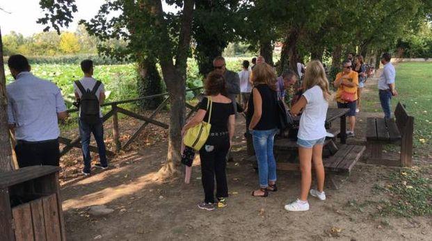 L'iniziativa è partita dal Parco del loto (Foto Scardovi)
