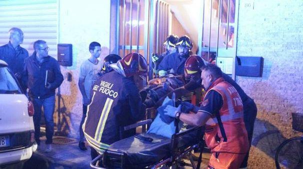 I soccorsi al giovane caduto (foto Zeppilli)