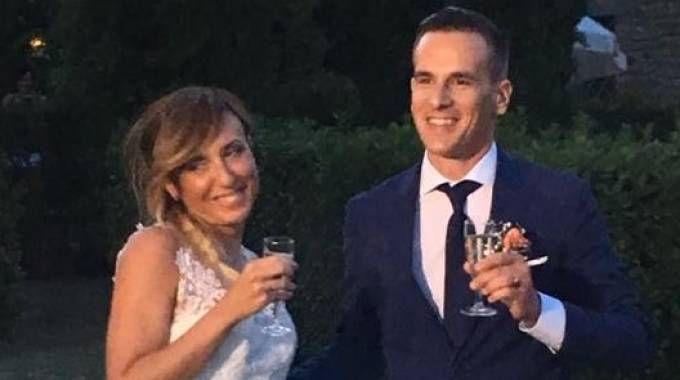 Filippo e Martina nel giorno delle nozze
