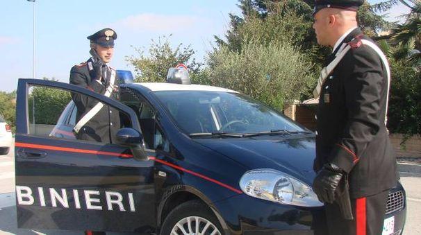 Una pattuglia dei carabinieri di Saltara
