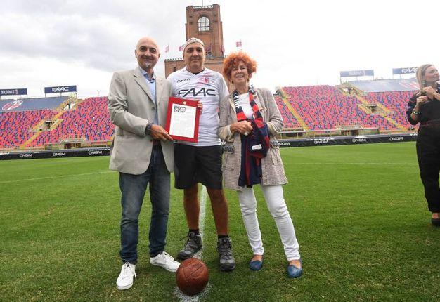 Massimo Vitali, Corvinelli e la figlia di Schiavio (foto Schicchi)