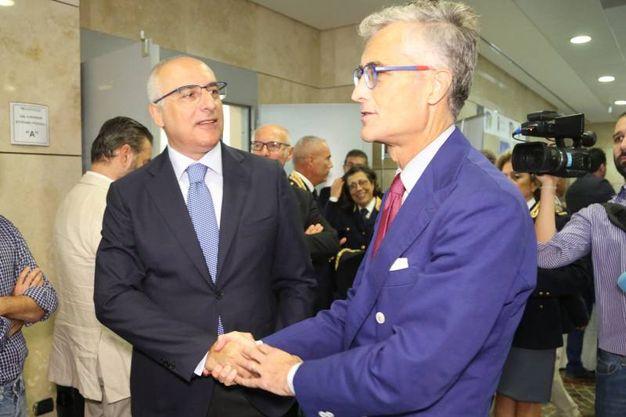 Il questore Ignazio Coccia e il procuratore capo Giuseppe Amato (fotoschicchi)