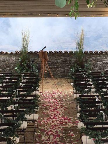 Allestimento zona cerimonia