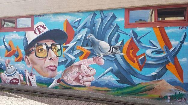 Fano, il murale di Smog One