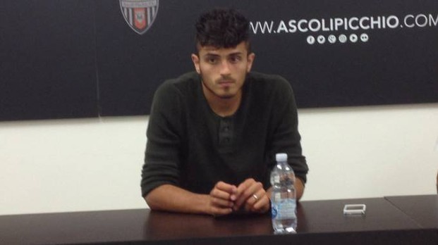 Il centrocampista ascolano Gianluca Carpani, alla sua quinta stagione con il Picchio
