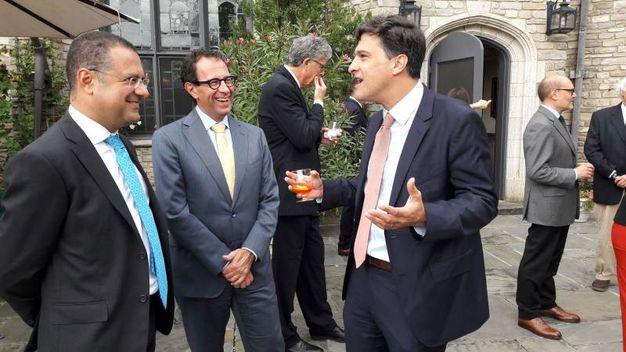 Da sinistra, Paolo Messa, Stefano Bertuzzi, Mark Mazzetti