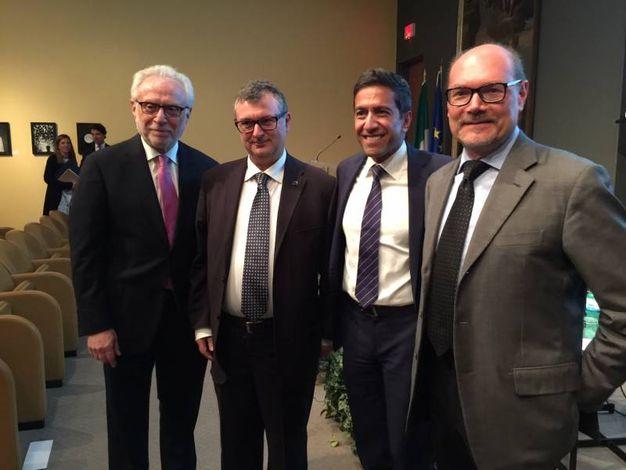 Da sinistra, Wolf Blitzer, Giovanni Lani, il dr Sanjay Gupta e Gabriele Cavalera
