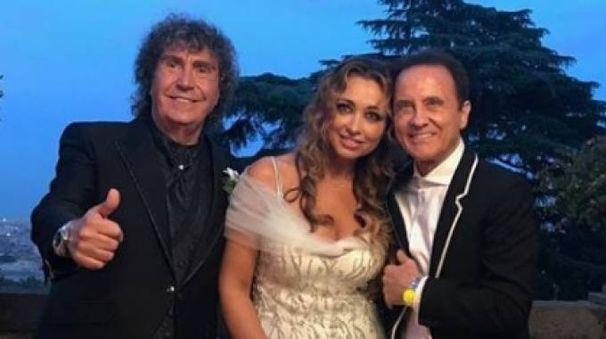 Il matrimonio di Stefano D'Orazio (foto Facebook Roby Facchinetti)
