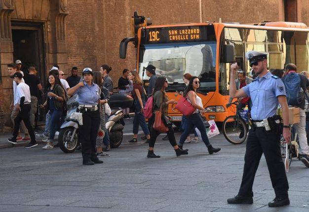 La Municipale ha diretto il traffico  (foto Schicchi)