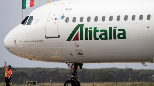Un aereo dell'Alitalia