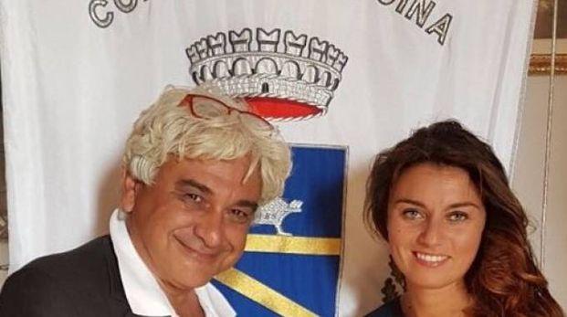 Luciano Del Seppia e il sindaco Susanna Ceccardi