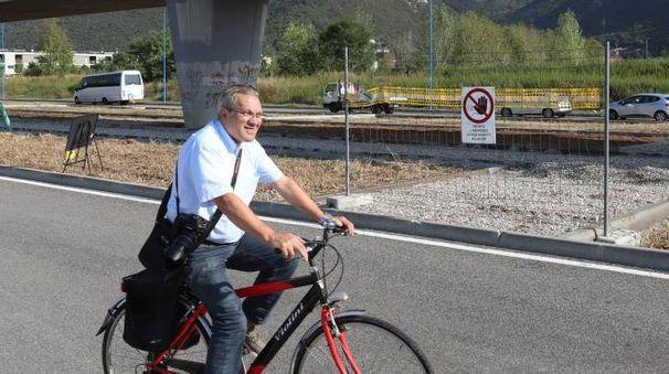 I lavori per la pista ciclabile a Sanpolino (Fotolive)
