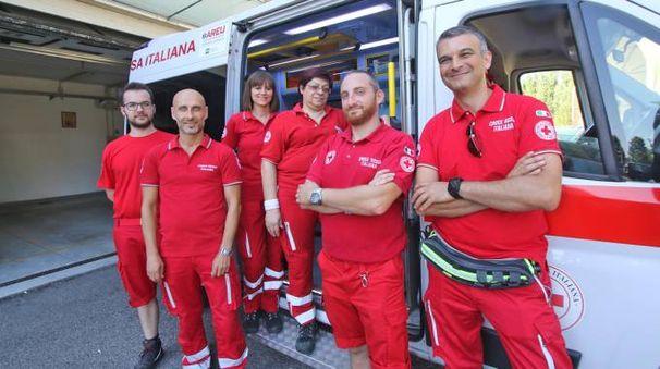Equipaggio della Croce Rossa (foto Mdf)
