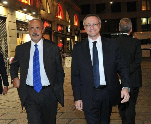Antonio Calabrò e Carlo Bonomi (Newpress)