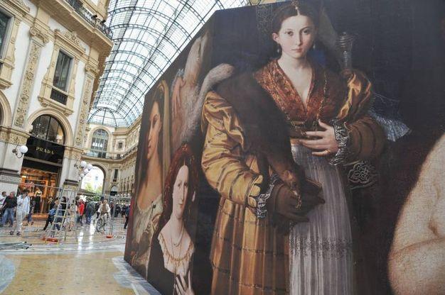 Milano XL, installazione scenografica nella Galleria Vittorio Emanuele
