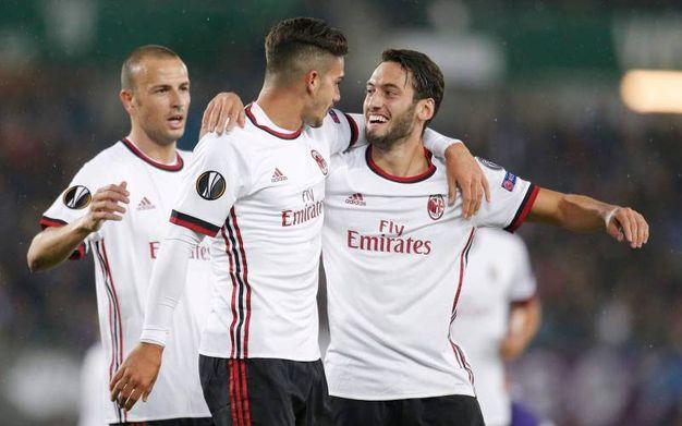 Esultanza per il gol di Andre Silva del Milan 0-2 (LaPresse)
