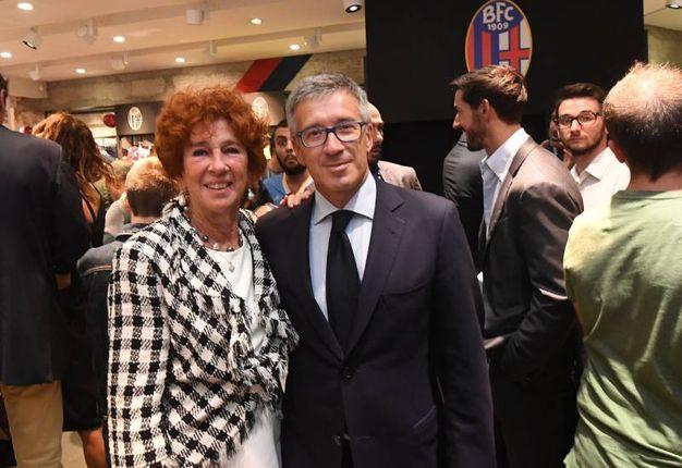 Marcella Schiavio e l'ad Claudio Fenucci (foto Schicchi)