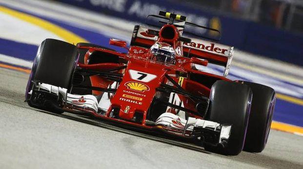 Gp Singapore 2017, la Ferrari di Raikkonen (Ansa)