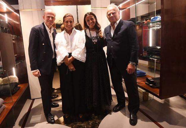 Silvana e Matilde Ratti insieme con Giuseppe e Francesco Galli (Foto Schicchi)