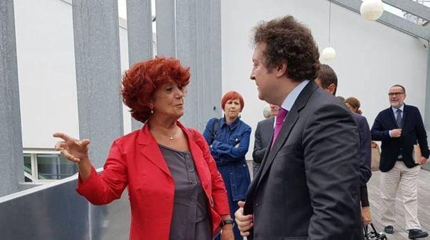 Il ministro dell'Istruzione Valeria Fedeli all'Opificio Golinelli di Bologna (Foto Dire)