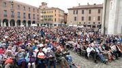 Il Festival della Filosofia in Piazza Grande (foto Fiocchi)