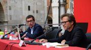 Recalcati in piazza Grande (foto Fiocchi)