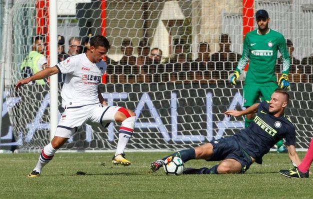 Crotone-Inter, il gol di Skriniar all'82' (Foto Afp)