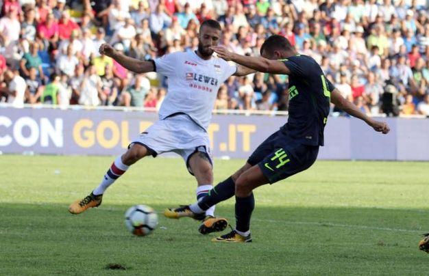 Crotone-Inter, il gol di Perisic al 92' (foto Ansa)