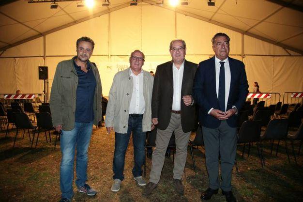 Nella foto da sinistra Fabio Incatasciato, Gianni Taccetti, Antonello Giacomelli e Francesco Carrassi  (Foto Giuseppe Cabras/New  Pressphoto)