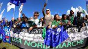 I militanti sono arrivati anche da Emilia, Toscana e Roma (Ansa)