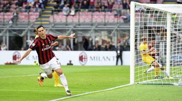 Il gol di Kalinic del Milan