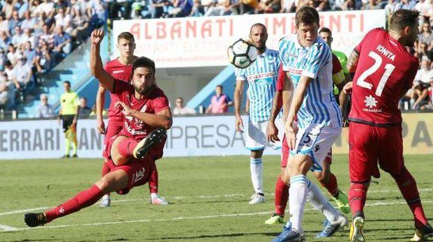 Al Mazza finisce 0-2 per il Cagliari (foto Ansa)