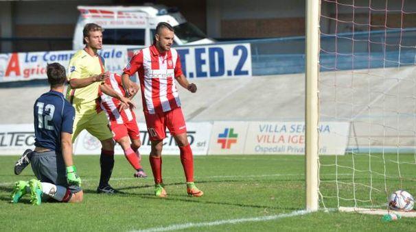 Il 2-0 segnato da Boilini (foto Frasca)