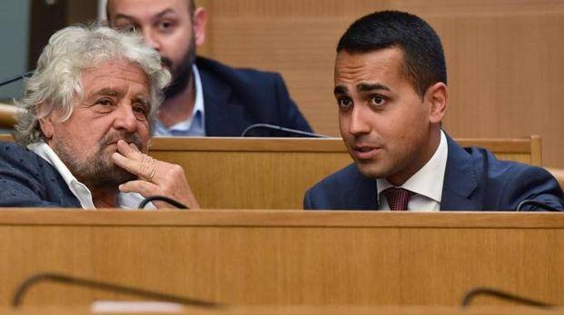 M5S, Beppe Grillo e Luigi Di Maio (Ansa)