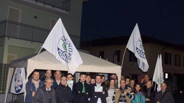 Una delle precedenti iniziative del centrodestra a Tavazzano