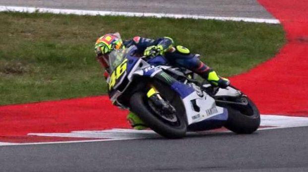 Valentino Rossi, secondo giorno in pista a Misano (Ansa)