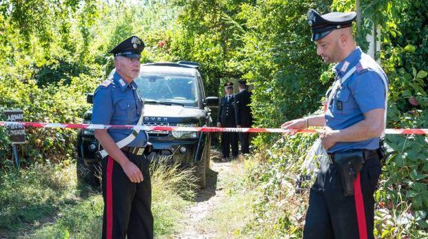 I carabinieri nell'orto di Garbagnate