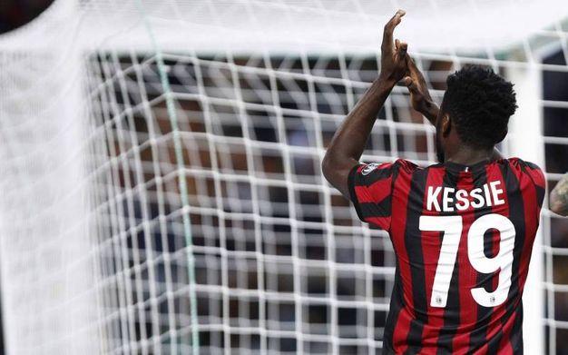Esultanza dopo il gol di Franck Kessie (Foto LaPresse)