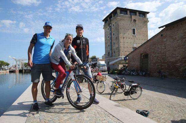 Da sinistra Andrea Dreitz, Martina Dogana e Timo Bracht (foto Zani)