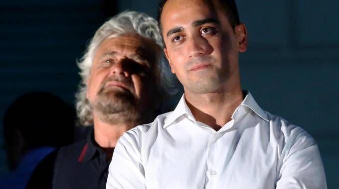 Beppe Grillo con Luigi Di Maio (foto Ansa)