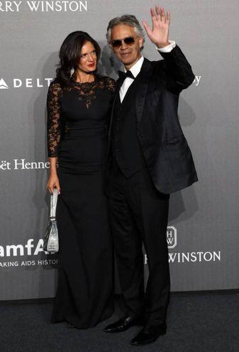 Andrea Bocelli con la moglie Veronica Berti (Ansa)