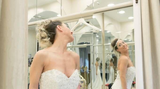 Laura Mesi durante i preparativi del suo matrimonio
