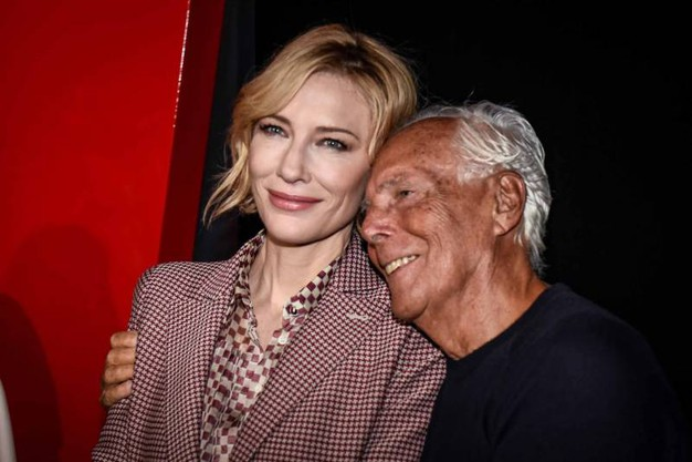 Con Cate Blanchett (Foto LaPresse)