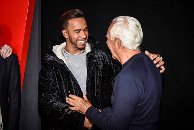Con Lewis Hamilton (Foto LaPresse)