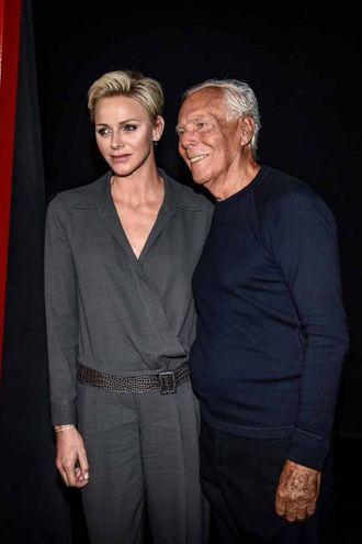 Con Charlene di Monaco (LaPresse)