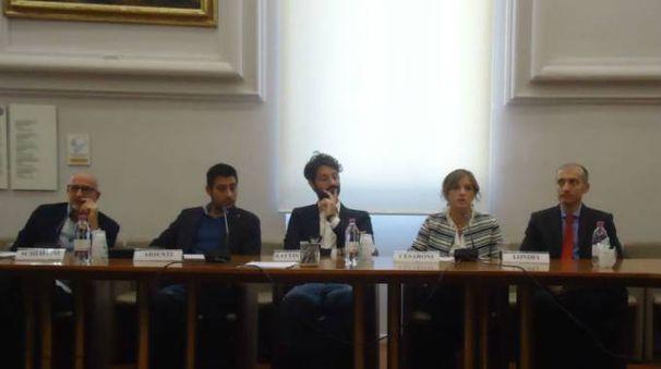 Da sinistra Schiavoni, Arienti, Battistelli, Cesaroni e Londei.