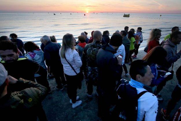 Cervia, Ironman 2017. Tutto pronto all'alba per la carica degli uomini d'acciaio (Foto Zani)