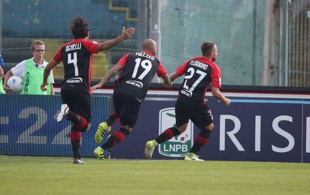 La rete dell'1-1 di Floriano (Fotolive)