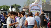 Anche la kermesse è costretta a fare i conti con le nuove disposizioni antiterrorismo (foto Petrangeli)