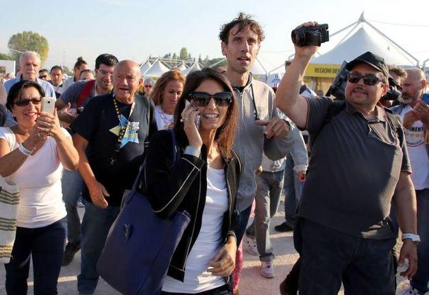 L'arrivo del sindaco di Roma, Virginia Raggi (foto Petrangeli)